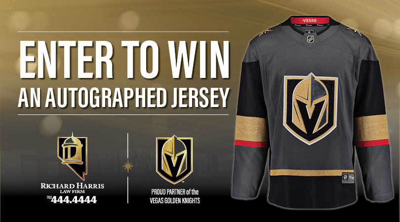 Vegas Golden Knights Signed Jersey Giveaway - Richard
