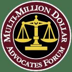 Multi-million Dollar Advocates Forum Badge